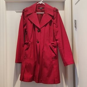 DKNY Raincoat, Red